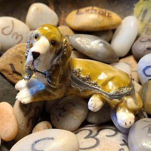 Collectible Trinket Box Bassett Hound Adorable Dog